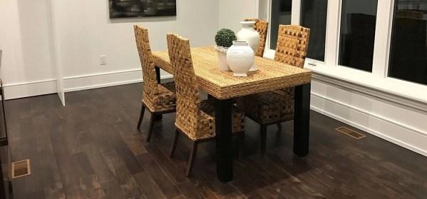 NAF Engineered Hardwood Handscraped T&G Exotic Walnut - Cottage Grey Room @ Floors Direct North