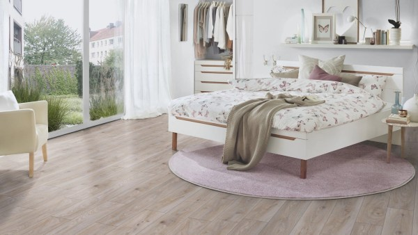 Fuzion Euro Supreme Laminate - Hardy Oak Bedroom @ Floors Direct North