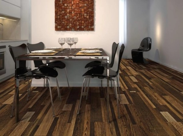 COREtec Galaxy Luxury Vinyl - Pinwheel Oak (room) @ Floors Direct North