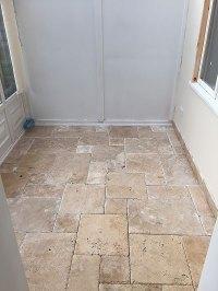 Travertine Tile With Dark Grout | Tile Design Ideas