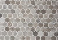 Anzer Grey Polished Marble Mosaic Tiles