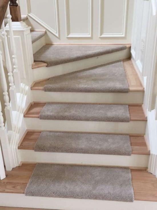 Carpet Custom Stair Treads The Floor Store | Carpet Steps For Stairs | Glitter Carpet | Elegant | Middle Open Concept | Heavy Duty | Gorgeous