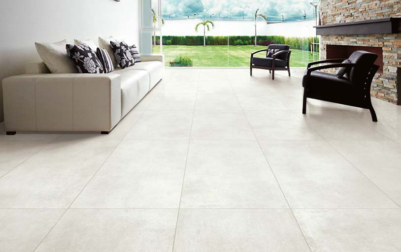 select crema 600 x 300 concrete effect tile