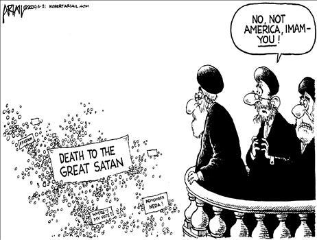 نه امام ، مقصودشان از شیطان بزرگ شماست !