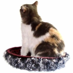 Hand Knit Peruvian Highland Wool Felted Cat Bed Cat Napper - Ghengis