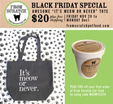 From Scratch Pet Food Black Friday 2014 Deal