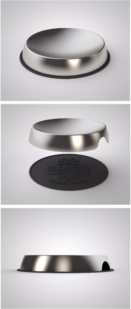 Stainless Steel Cat Bowl Dr Catsby Bowl for Whisker Fatigue