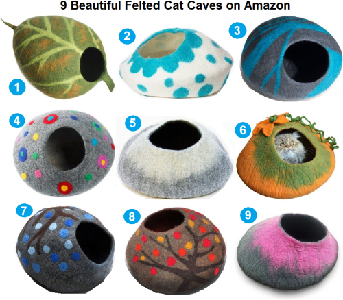 9-beautiful-felted-cat-caves-on-amazon