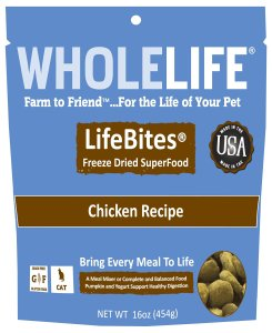 Whole Life Pet Products LifeBites Chicken Flavor Food for Cats