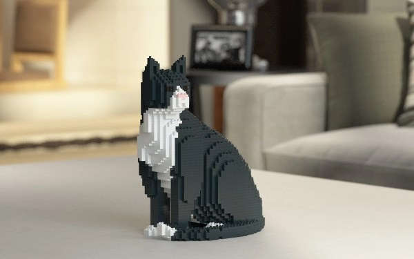 Cat Sculptures Legos
