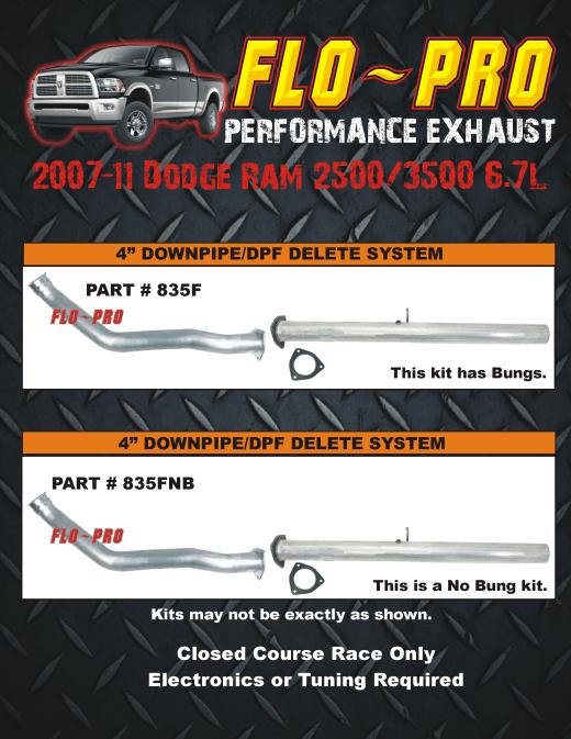 flo pro 2011 dodge cummins exhaust kits