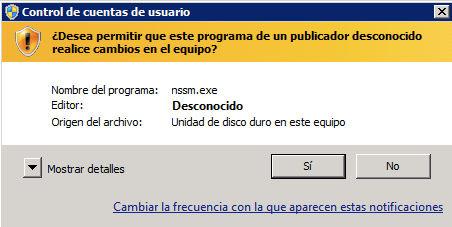 Control cuentas usuario