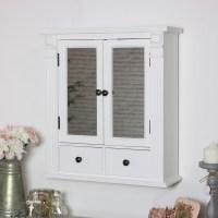 White Mirrored Bathroom Wall Cabinet   Flora Furniture