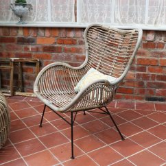 Rattan Wingback Chairs Christmas Hat Chair Covers Garden Dining Flora Furniture Hover
