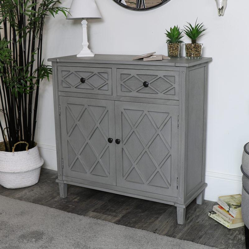 grey sideboard storage unit