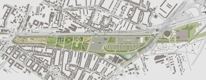 Lageplan Pankower Tor