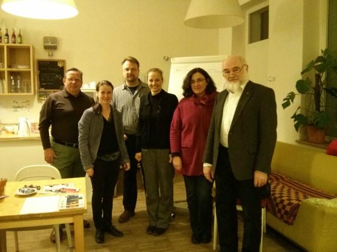 Da war Kirchner schon weg: Michael Engler, Ines Lekschas, Timo Heimlich, Stephanie Draack, Irene Krombach und Thomas Brandt