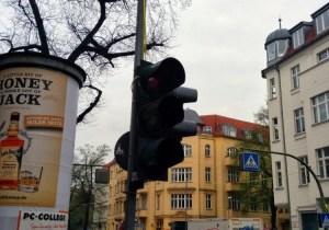 Baustellenampel in der Florastraße