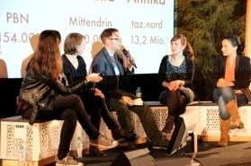 Panel mit Isabella Davids, Annika Stenzel, Ole Reißmann, Juliane Wiedemaier, Natalie Tenberg