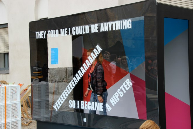 Der Mann im Radio war gestern: Werbeaktion bei der re:publica.