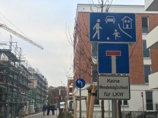 Zufahrt Görschstraße