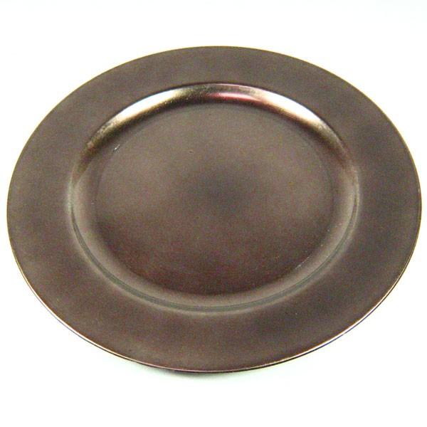 Dekoteller Teller Platzteller Kunststoff rund D 28cm mit
