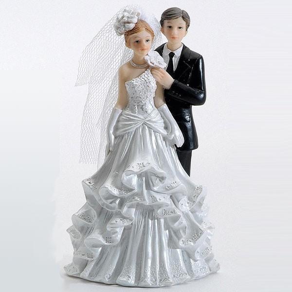 Brautpaar Ehepaar Hochzeitspaar Torte Tortenaufsatz 12cm