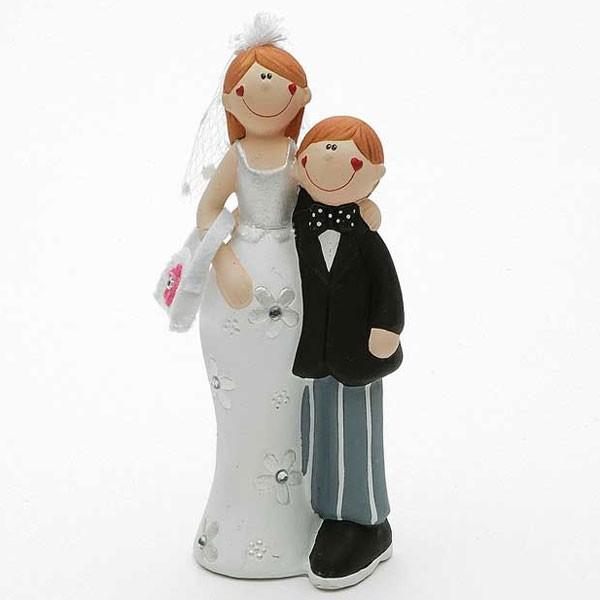 Brautpaar Ehepaar Hochzeitspaar 13cm lustig Torte