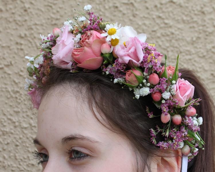 Ringkissen Haarschmuck und Armband  Floral M