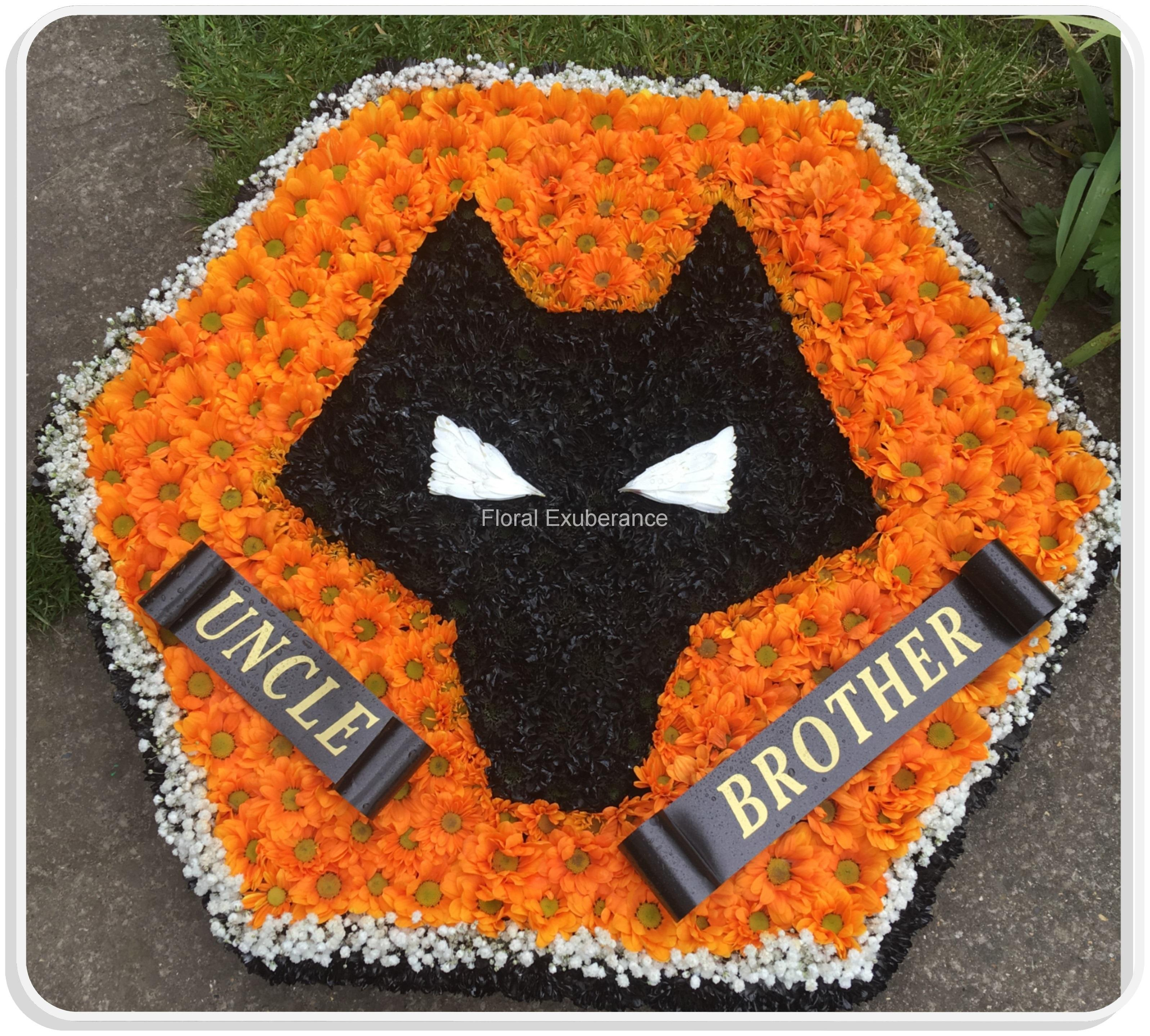 Funeral flowers brownhills walsall floral exuberance wolves badge izmirmasajfo Images