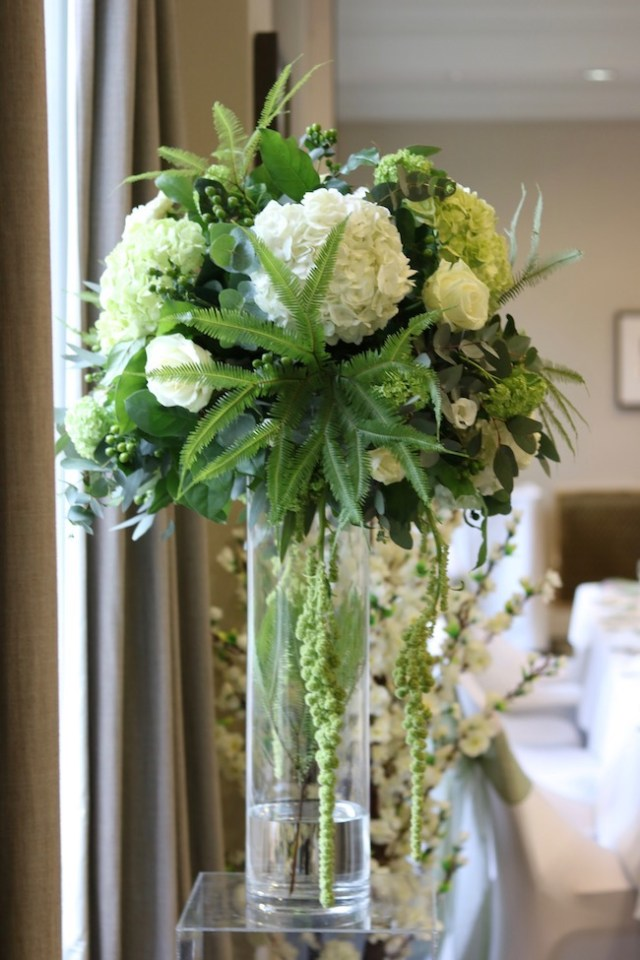 Wedding flowers Devonport House, Greenwich