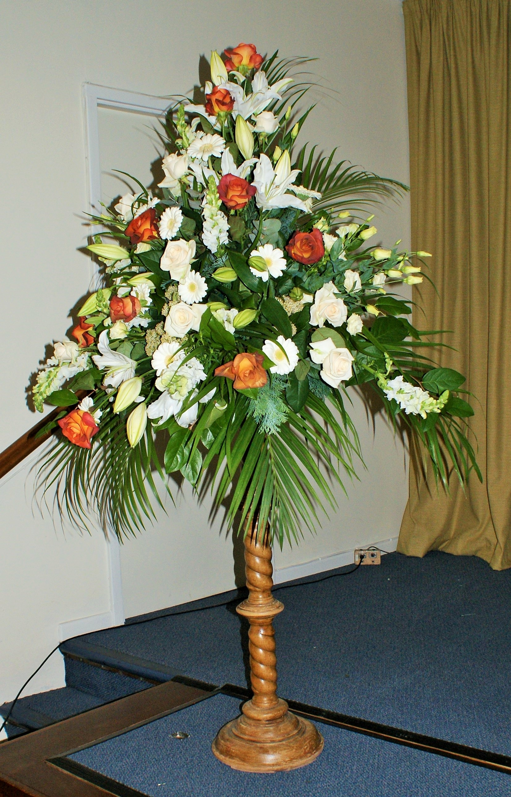 Pedestal Arrangements  Belper Florist  Derby Flowers