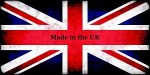Union Jack flag with Made in the UK caption - Floral Tiles made in the UK