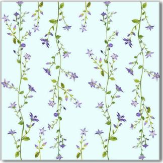 Blue Forget-Me-Not Pattern Ceramic Wall Tile