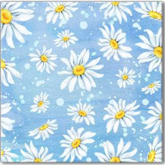 Chamomile Floral Pattern Ceramic Wall Tile