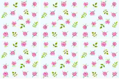Pink Roses on a pale blue background, floral ceramic wall tile, pattern example
