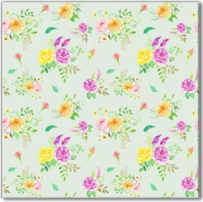 Flower Posies Pattern Ceramic Wall Tile