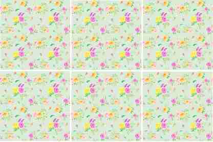 Flower Posies Ceramic Wall Tile Pattern Example