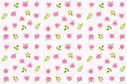 Pink Roses on a pale pink background, floral ceramic wall tile pattern example