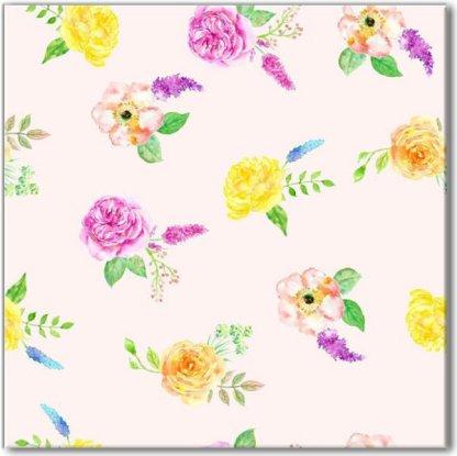 Spring Roses Pattern Ceramic Wall Tile