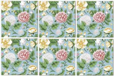 Vintage Tiles - Green Floral Seamless Tile Pattern
