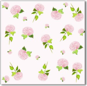 Patterned Tiles - Pink Hydrangeas Ceramic Wall Tile