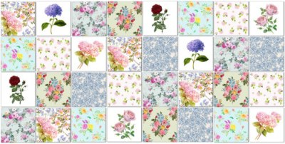 patchwork tiles - My favourite floral tiles patchwork tiles pattern example