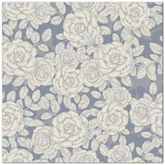 Grey and white roses patterned ceramic wall tile