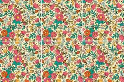 Decorative Tiles - Retro floral pattern ceramic wall tiles