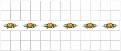Decorative Tiles - Yellow Roses Border Tiles Pattern Example