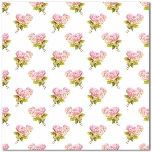 Flower Tiles - small pink hydrangea flowers ceramic wall tile