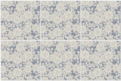 Kitchen Tiles Ideas - grey roses ceramic wall tiles pattern example
