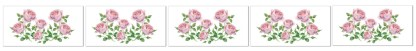 Pale Pink Roses Ceramic Border Wall Tile Pattern Example