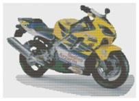 HARLEY DAVIDSON MOTO Crossstitch KIT by florashell